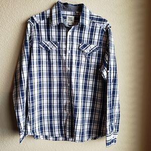 Paper Denim & Cloth Mens Button Down Shirt Sz XL
